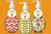 method + orla keily | fall 2012 / the festive prints of Orla Keily brought to life on our soap bottles.