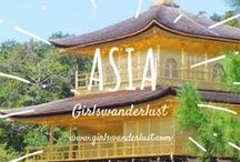Asia: Girlswanderlust / Asia. Get inspired by our posts about the amazing culture, beautiful nature, lovely people and delicious food of Asia. #travel #wanderlust #girlswanderlust #traveling #reizen #travelblog #asia