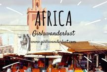Africa: Girlswanderlust / Africa. Get inspired by our posts about the amazing culture, beautiful nature, lovely people and delicious food of Africa. #travel #wanderlust #girlswanderlust #traveling #reizen #travelblog #africa