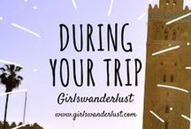During your trip: Girlswanderlust