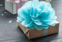 Packaging ~ Ideas with Tissue Paper / there are so many ways to use tissue paper and these are some of our favourites