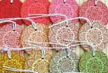 Packaging ~ With Lace / lace is both vintage and modern ... use it in may ways to add  texture and colour