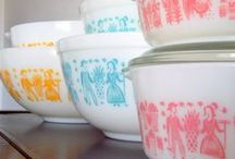 Vintage Pyrex and Kitchens