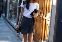 skirt love / Don't be boring and have fun with your legs out; mini, leather or wrap, it's no longer considered girly to wear skirts.