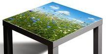 Glasbilder für IKEA Lack Tisch Hack / Wie Sie Ihr IKEA Lack Tisch schützen und Farbe in den Raum bringen können.