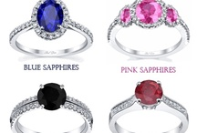 Gemstone Engagement Rings / Our gemstone engagement rings feature only natural gemstones.  You can choose between black diamonds, blue sapphires, pink sapphires, and red rubies.  These are perfect for the girl that loves an extra pop of color.