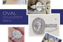 Oval Engagement Rings / Engagement rings that feature a beautiful oval diamond or oval gemstone as the center stone.