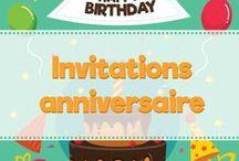 Invitation pour anniversaire enfant / Vous recherchez des idées originales pour vos invitations d'anniversaire ? Vous trouverez tout ce qu'il vous faut dans ce tableau.