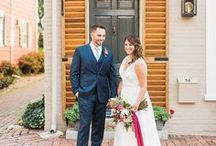Historic New Castle Delaware Wedding // Berry and Dusty Blue Wedding Inspo / A wedding historic New Castle Delaware wedding at the Arsenal with berry and dusty blue colors.