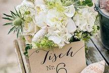 Hochzeit - Tischnummern / Ich sucht für Eure Hochzeit ein paar kreative Ideen für Tischnummern um Euren Sitzplan vollständig zu machen? Hier findet Ihr eine Sammlung vieler Ideen.