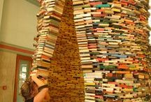 Objekte / Kunstobjekte aus Büchern gestaltet.