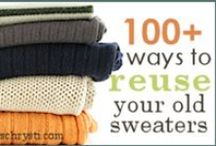 creative reuse |  sweaters / as started on my blog, and continued to here... 100+ ways to creatively reuse your old sweaters!