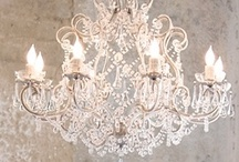 "Chandeliers. / ""The most important thing? Perfect lighting at all times.""  —Fashion designer Oscar de la Renta / by Russell Douglas Powell"