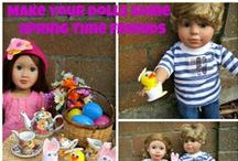 """18 inch Dolls Holiday Stuff / Some fun ideas your the holidays to celebrate with your Springfield Dolls or other 18 inch dolls / by Springfield 18"""" Dolls"""