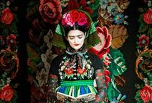 """Inspiration: Frida Kahlo / Inspired by Lori Wright's """"Coco Chanel"""" board."""