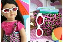 18 inch Doll Summer Fun / Help your doll enjoy the warm weather with these adorable summer ideas. Sizzlin crafts for your Springfield Doll or other 18 inch doll