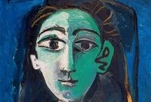 ☆☆ Pablo Piccaso ☆☆ /  Pablo Picasso (1881- 1973) fue un pintor y escultor español, creador, junto con Georges Braque y Juan Gris, del movimiento cubista. Considerado uno de los mayores artistas del siglo XX, participó desde la génesis en muchos movimientos artísticos Incansable y prolífico,pintó más de dos mil obras, presentes en museos y colecciones de toda Europa y del mundo. Abordó otros géneros como el dibujo, el grabado, la ilustración de libros, la escultura, la cerámica entre otros.- / by ReWoEem IS©