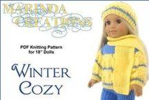 """18 inch doll pattern -crochet & knit / by Springfield 18"""" Dolls"""