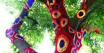 Crazy and Bizzare Crochet and Knitting Projects - Yarn Bombing / Who says Crochet and Knitting is boring ..