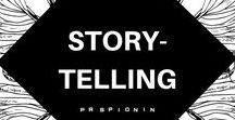 Storytelling / Facts tell, stories sell. Storytelling, Brandstory, digital Storytelling.