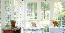 Spring Sunroom Design / Heading into bright weather, how can you spruce up your Four Seasons Vancouver sunroom? Spring fabrics & floral accents underscore the multi-season functionality of your all-season room.