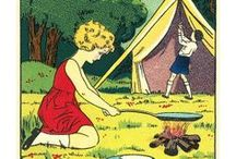 Vintage Camping / Lots of old-school cool with vintage campers, tents and camping equipment #vintage #camping