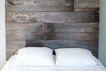 Tête de lit en bois / récup
