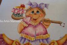 Pintura de Gingers / pintura em tecido de Ginger