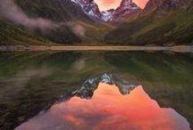 New Zealand / My beautiful country. Aotearoa. Land of the Long White Cloud.