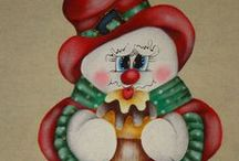 Pinturas Natal Country / pintura em tecido para o Natal Country / by Cátia Artes Manuais