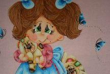Pintura Bonecas e Anjos / http://www.catiaartesmanuais.com/ pintura em tecido