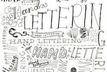 lettering, type, & fonts