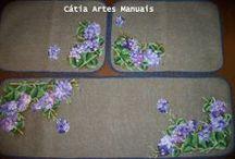 Tapetes Artesanais / tapetes feitos a mão