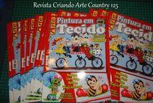 Revistas que eu pintei (Revistas Criando Arte da Editora Liberato) / Revistas de pintura em tecido com minhas pinturas