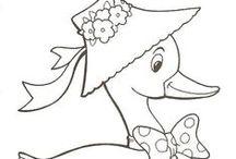 Riscos de patos / riscos de patos para pintar