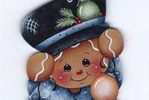 Riscos de Gingers / riscos para pintar bonequinha de biscoito