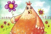 Riscos de galinhas