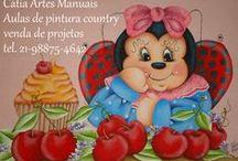 Passo a passo pintura country joaninha / Fotos com passo a passo de pintura country