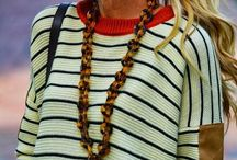 Stripes, Nautical, Sailor Fashion Style / Let's sail away in style...