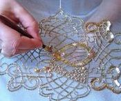 tambour & punch needle embroidery