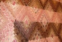 Quilts Pink and Brown