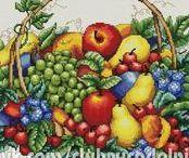 haft - owoce, warzywa