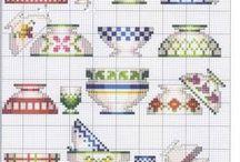 haft - porcelana, szkło