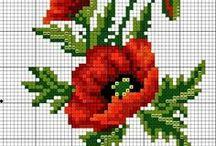 haft - kwiaty - maki