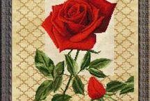 haft - kwiaty - róże