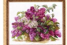 haft - kwiaty - bez