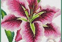 haft - kwiaty - lilie