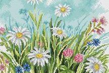 haft - rośliny 6 - łąka