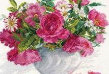 haft - kwiaty - peonie