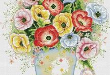haft - kwiaty - anemony